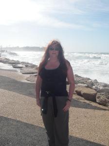 Red in Tel-Aviv Israel