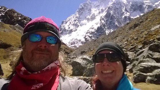 Summiting Sulkanay with horses Peru, 2014